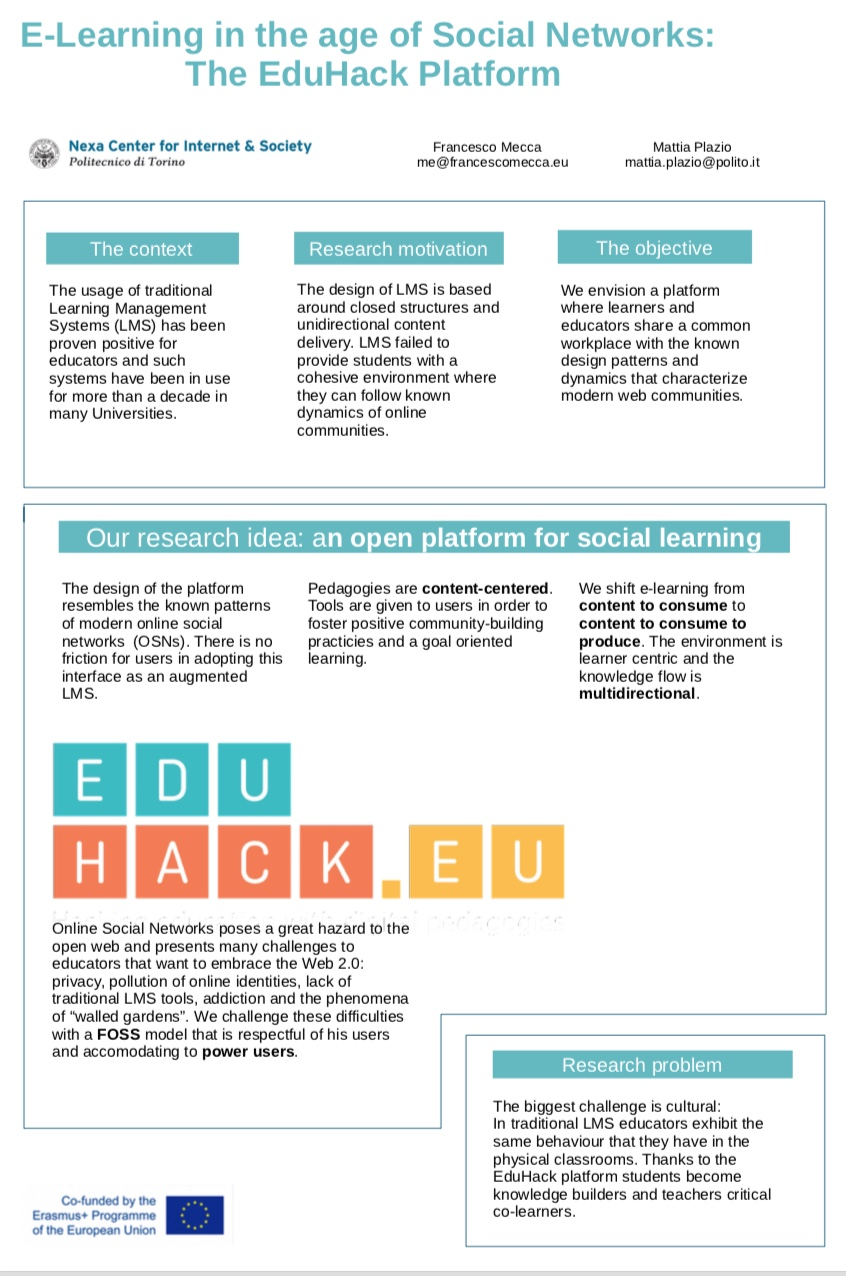 Poster on the EduHack.eu project